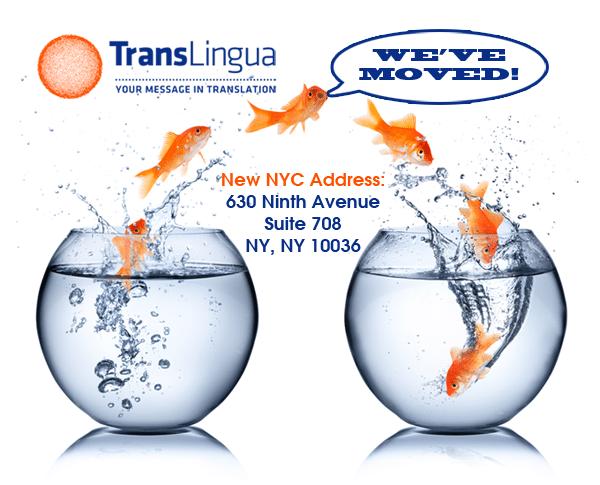 TransLingua Translations Has a New Address in NYC!