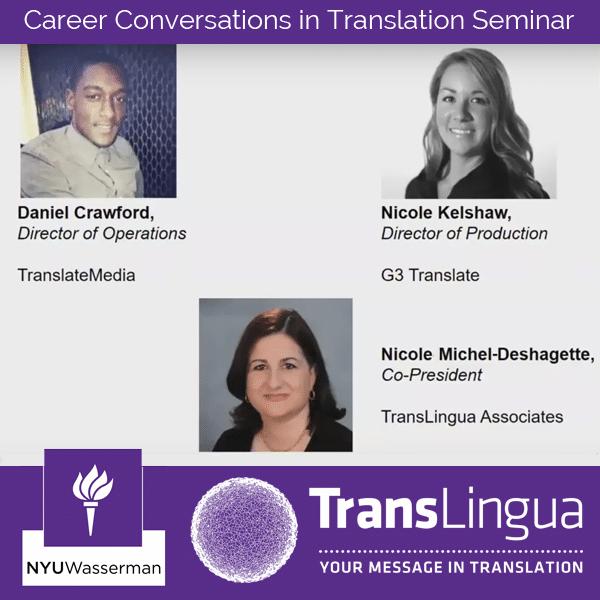 Nicole Michel-Deshagette Joins the Career Conversation in Translation