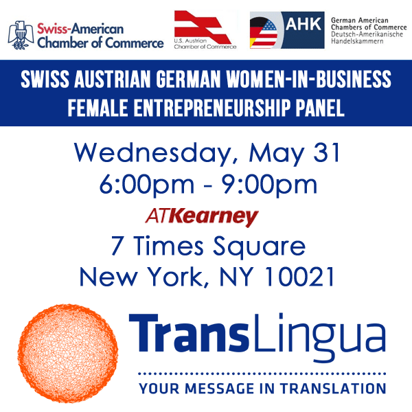 Meet Nicole Michel-Deshagette at the Swiss-American Chamber of Commerce Female Entrepreneurship Panel Discussion